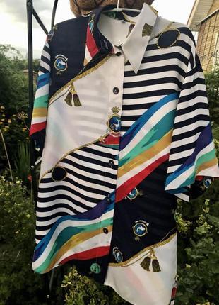 Эксклюзивная брендовая блуза в стиле hermès/ цепи/винтаж/германия ☘️