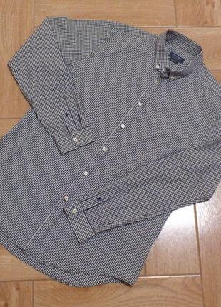 Рубашка мужская в клетку хлопковая с длинным рукавом zara сорочка чоловіча бавовняна🇹🇷