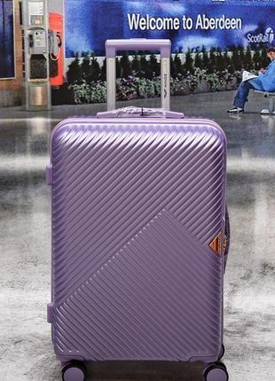 Брендовий ультралегкий чемодан большой wings  wn01 dove