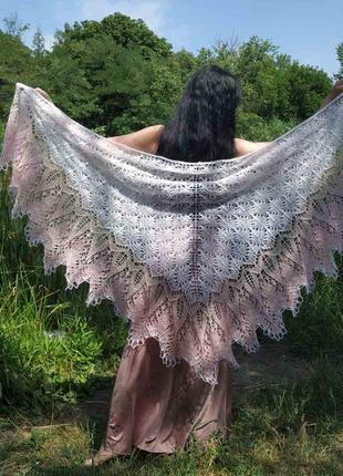 Шикарная шаль марианна из кид мохера