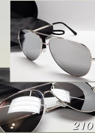 Стильные очки авиаторы зеркальные с поляризацией