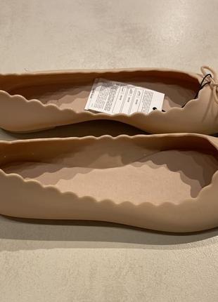 Бежевые силиконовые балетки mohito есть размеры