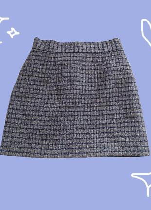 Твидовая мини-юбка