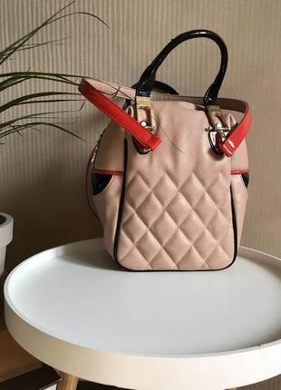 Стильная базовая сумка среднего размера,бежевая сумка . женская сумка кроссбоди
