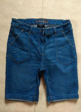 Cтильные джинсовые шорты бриджи benotti, 12 размер.