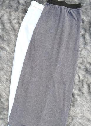 Длинная юбка в пол из трикотажа