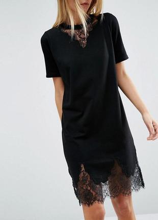 Платье - футболка кружево asos батал