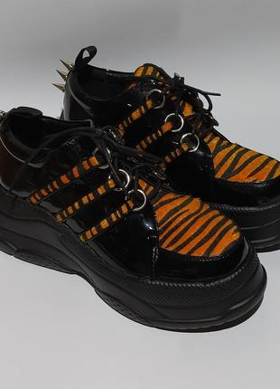 Lamoda оригинал кроссовки ботинки на платформе с шипами размер 40