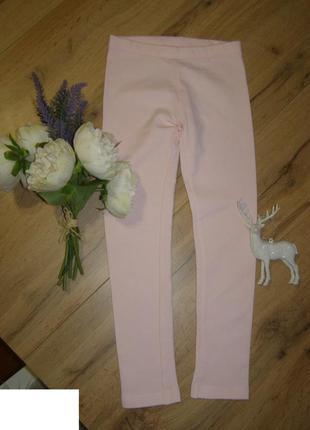 Лосины, леггинсы на девочку  розовые с начесом хлопок от lupilu 110-116 рост