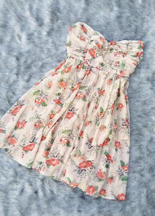 Платье бюстье без бретелей asos
