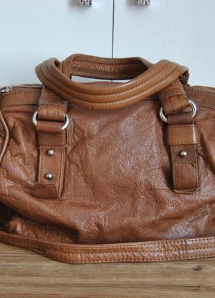 Кожаная сумка кроссбоди live & love / шкіряна сумка