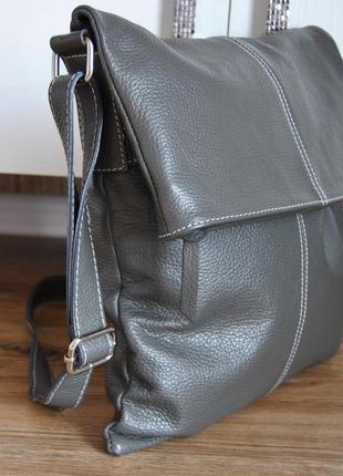 Кожаная сумка кроссбоди планшет borse in pelle serena / шкіряна сумка