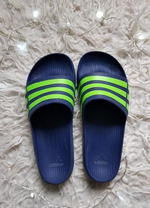 Шикарные шлепки сланцы вьетнамки adidas! оригинал! по массажным точкам - 28см