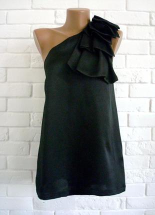 Распродажа красивая нарядная блуза с бантом на одно плече top shop uk10