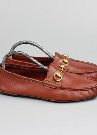 Кожаные лоферы мокасины туфли италия