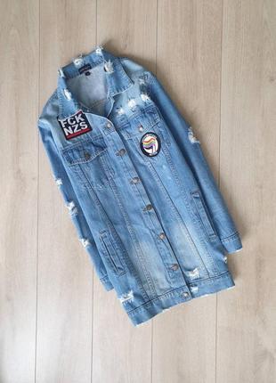 Удлиненная джинсовочка