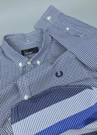 Рубашка в клетку fred perry royal оригинал размер s lacoste polo ralph