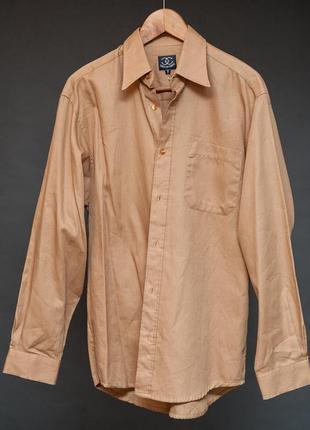 Ciro citerrio. новая с биркой мужская хлопковая рубашка цвета кемэл.