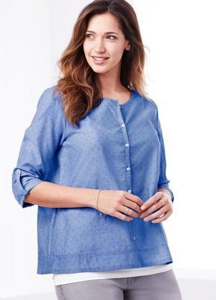Нежная. воздушная блуза-рубашка из хлопка tcm tchibo германия
