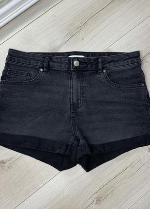 Чёрные джинсовые шортыh&m