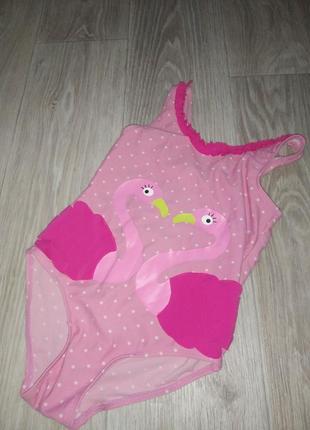 Нежный купальник с фламинго