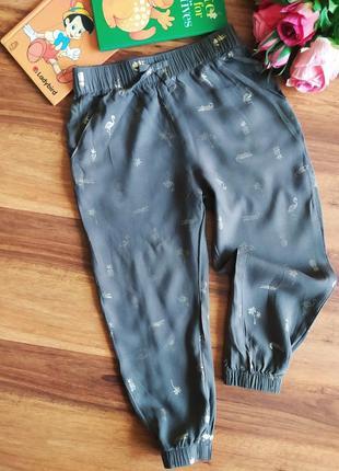 Модные хлопоковые штанишки, бананы hm на 1,5-2 года.