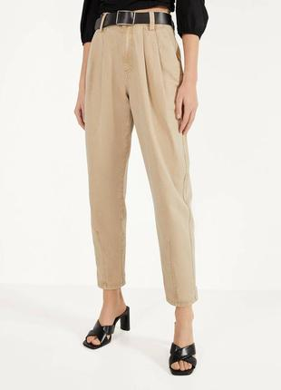 Пісочні джинси bershka / песочные бежевые джинсы штаны / slouchy jeans