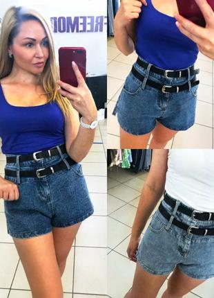 Женские джинсовые шорты 2