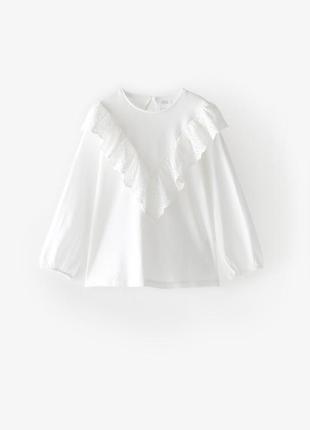 Стильная блуза с рюшами zara