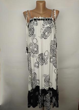 Платье новое натуральное в принт river island s
