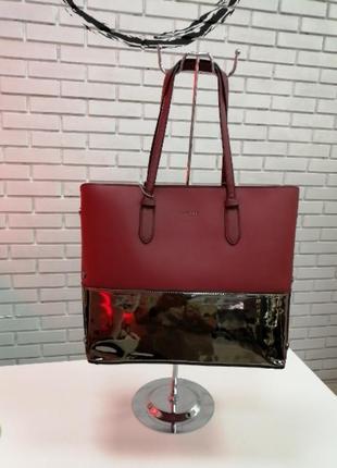 Стильная женская сумка 2 в 1 david jones