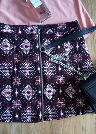 Джинсовая мини юбка  спідниця джинсова