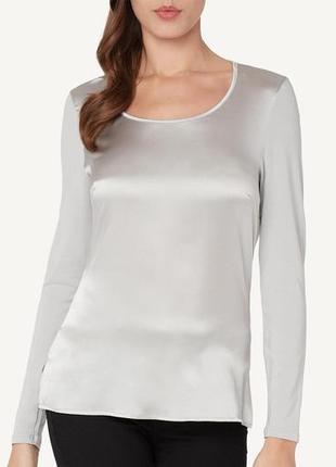 Intimissimi шелковая блуза с длинным рукавом