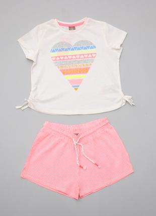 Летний костюм для девочки футболка и шорты  pepco польша 110