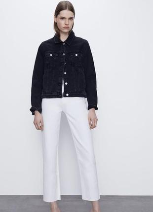 Джинсовая куртка черная zara