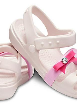 Босоножки crocs keeley charm c10 17.7см
