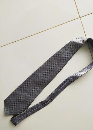 Серый шёлковый галстук versace classic v2