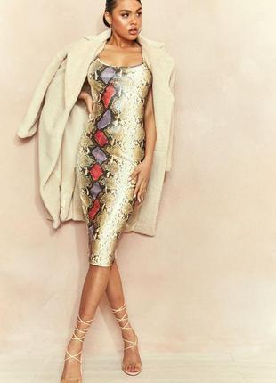 In the style. товар из англии. платье с блестящей текстурой под кожу.