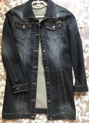 Джинсовая куртка длинная новая