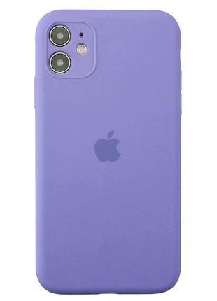 Чехол silicone soft touch 360 на iphone 11 лилового/фиолетового цвета