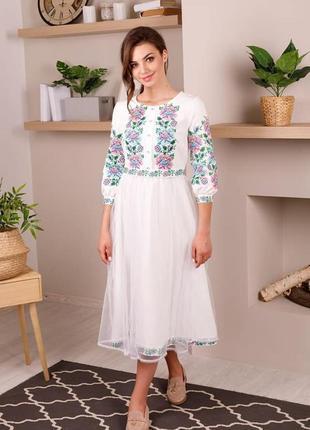 Вишиванка.вишукана ніжна сукня з вишивкою