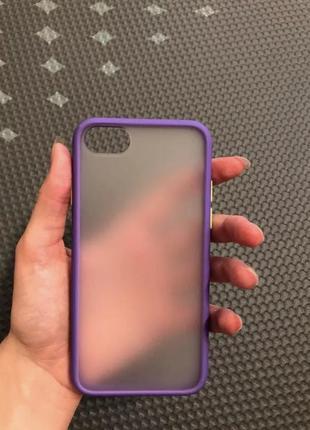 Ударопрочный прозрачный матовый силиконовый чехол бампер для айфон iphone 7 8
