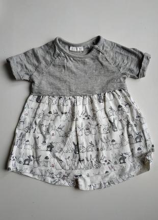 Платье на девочку 0-3 мес