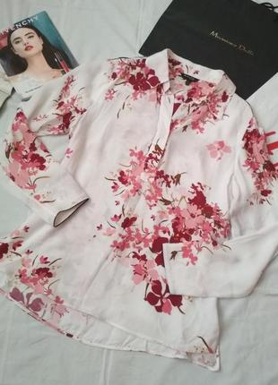Воздушная блуза в цветочный рисунок, massimo dutti