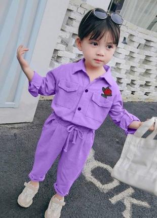 Костюм для дівчинки rose фіолетовий