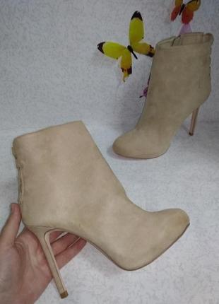 Гламурные ботинки под замшу zara (зара)