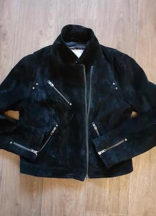 Куртка косуха,натуральная замшевая от new look.