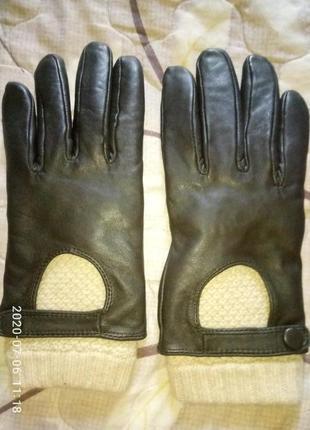 Фирменные перчатки натуральная кожа размер 8-8,5