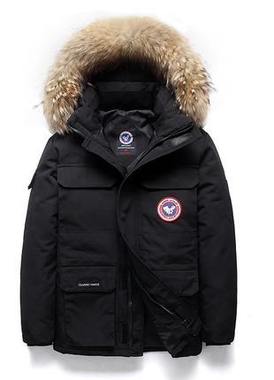 Мужская зимняя куртка аляска пуховик. очень тёплая.