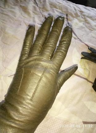 Фирменные перчатки натуральная кожа размер 7